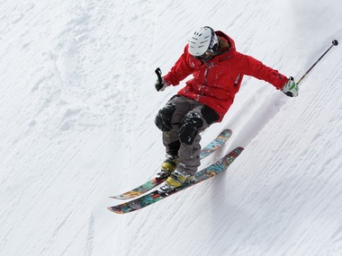 Thumb big freerider skiing ski sports 47356